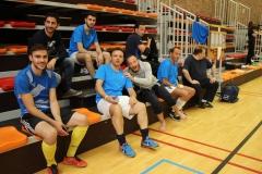 Squadra azzura dans la tribune 1.